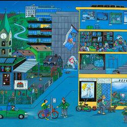 Пазл онлайн: Ночная жизнь города