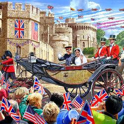 Пазл онлайн: Королевская свадьба