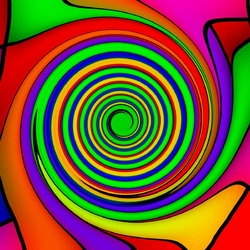 Пазл онлайн: Водоворот красок