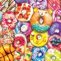 Пазл онлайн: Вкусные донатсы