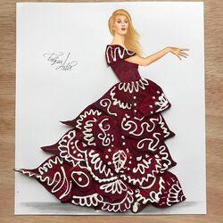 Пазл онлайн: Платье из свеклы и сметаны