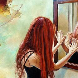 Пазл онлайн: Зеркало