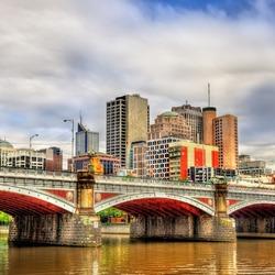 Пазл онлайн:  Мельбурн, река Ярра