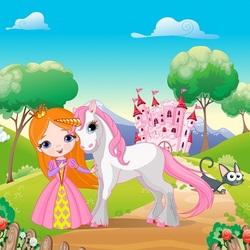 Пазл онлайн: Принцесса и единорожек