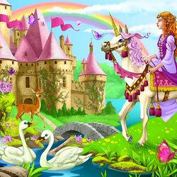 Пазл онлайн: Замок принцессы