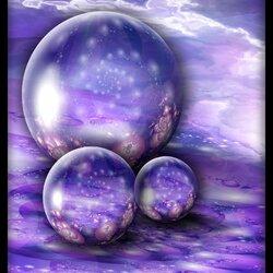 Пазл онлайн: Сиреневые шары
