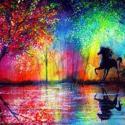 Пазл онлайн: Черный конь