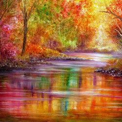 Пазл онлайн: Радуга красок
