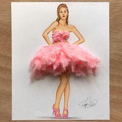 Пазл онлайн: Платье из сахарной ваты