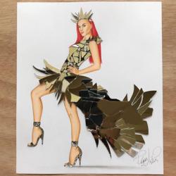 Пазл онлайн: Платье из зеркальных кусочков