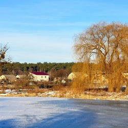 Пазл онлайн: Замерзшая река
