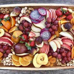 Пазл онлайн: Фруктовое блюдо