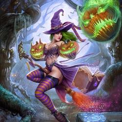 Пазл онлайн: Ведьмочка
