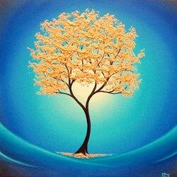 Пазл онлайн: Золотое дерево