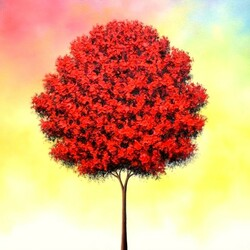 Пазл онлайн: Красное дерево