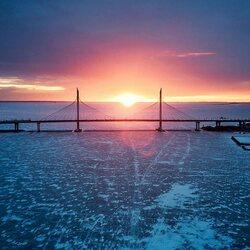 Пазл онлайн: Закат над финским заливом