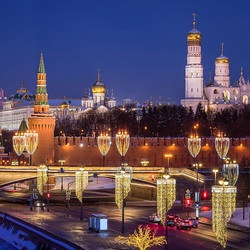 Пазл онлайн: Вечерняя Москва
