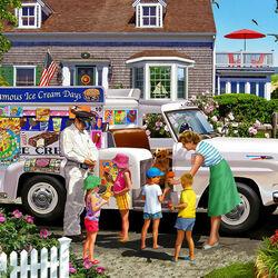 Пазл онлайн: День мороженого