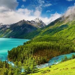 Пазл онлайн: Поворот реки