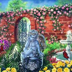 Пазл онлайн: Сад Ангела