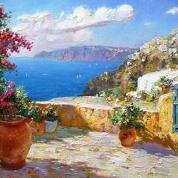 Пазл онлайн: Средиземноморский пейзаж