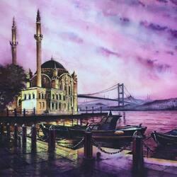 Пазл онлайн: Мечеть Ортакой в Стамбуле