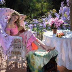 Пазл онлайн: Летний день в саду