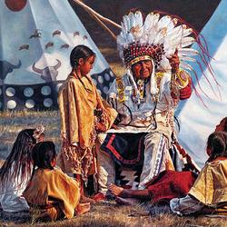 Пазл онлайн: Индейцы