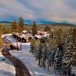 Пазл онлайн: Зимний отдых