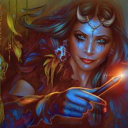 Пазл онлайн: Магиня