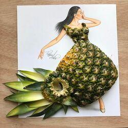 Пазл онлайн: Платье из ананаса
