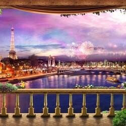 Пазл онлайн: Огни Парижа