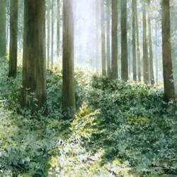 Пазл онлайн: Там за деревьями