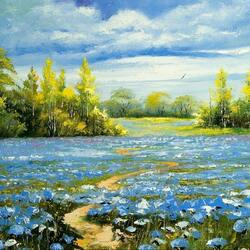 Пазл онлайн: Цветочное поле