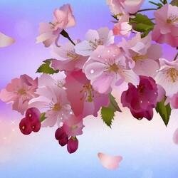 Пазл онлайн: Цветущая ветка