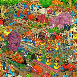 Пазл онлайн: Цветочный фестиваль