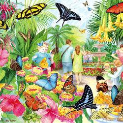 Пазл онлайн: Сад бабочек