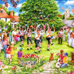 Пазл онлайн: Деревенские танцы