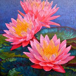 Пазл онлайн: Водяные лилии