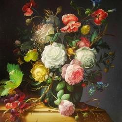 Пазл онлайн: Букет с белой розой
