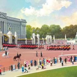 Пазл онлайн: Лондон.Букингемский дворец