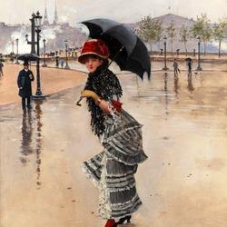 Пазл онлайн: В дождливый день на площади Конкорд