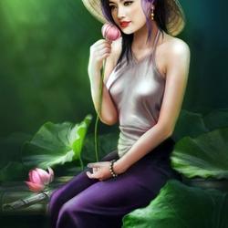 Пазл онлайн: Мечта лотоса
