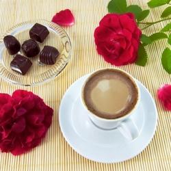 Пазл онлайн: Кофе и конфеты
