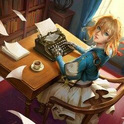 Пазл онлайн: Писательница