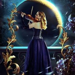 Пазл онлайн: Мелодия лунного света