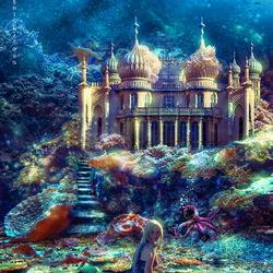 Пазл онлайн: Дворец для русалки