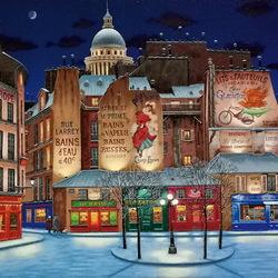 Пазл онлайн: Зима в Париже