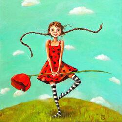 Пазл онлайн: Танец с маком