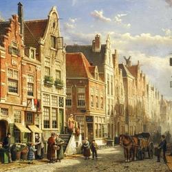 Пазл онлайн: Оживленная улица